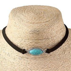 Bohemian Turquoise Choker Necklace